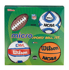 Набор из 4-х мини-мячей Wilson MICRO SPORTS 4BALL KIT SS14