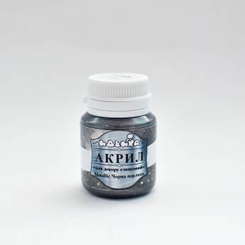 Акрилова фарба для малювання та декору металік Идейка 98304, 20мл Черный жемчуг