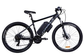 """Электровелосипед 27.5"""" F-1 350Вт 36В, 12.5Ач, макс.пробег 40км, 40 км/ч (черно-белый (м))"""