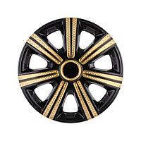Колпаки (4шт) R15 DTM Super Black Gold карбоновый STAR
