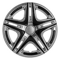 Колпаки (4шт) R14 Дакар Super Silver карбоновый STAR