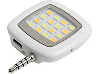 Селфи вспышка для смартфонов 16 LED  Белый