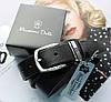 Женский кожаный ремень Massimo Dutti черный