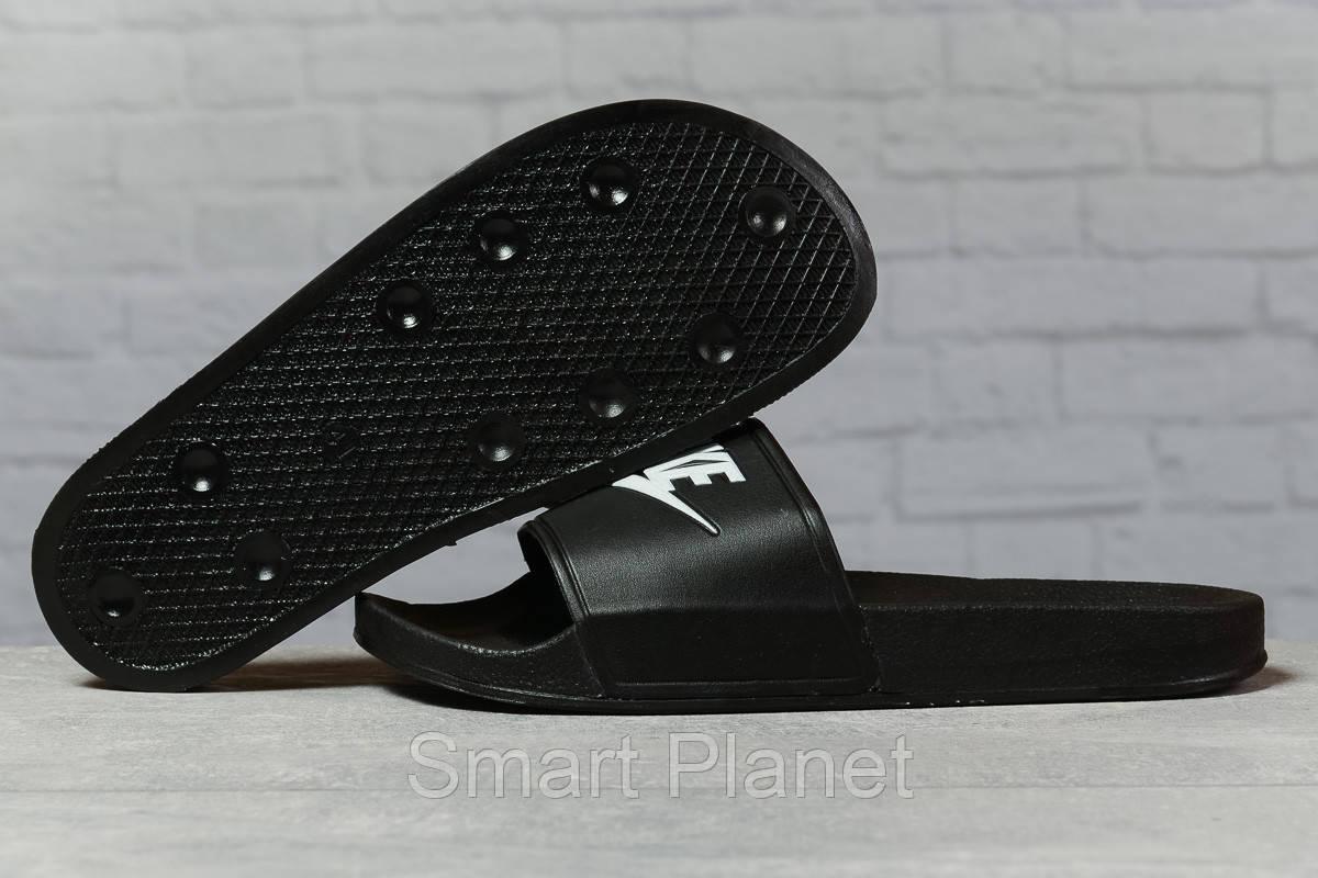 Шлепанцы мужские 17342, Nike, черные, < 41 > р. 41-26,0см.
