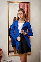 Жіночий піджак Подіум Mirabilis 17941-BLUE XXL Синій