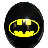 """Латексные шары Belbal Бэтмен эмблема на черном 12"""" 30 см, 1 шт"""