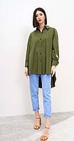 Блузка Beauty-3187/1 белорусский трикотаж, хаки, 42