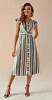 Платье Andrea Fashion-AF-3 белорусский трикотаж, бежевый, 44, фото 1