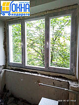 Цена на окна Саламандер - трехстворчатое дешевле Киев, фото 2