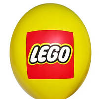 """Латексные шары Belbal Лего эмблема на желтом 12"""" 30 см, 1 шт"""