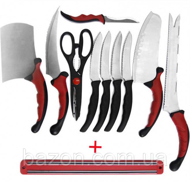 Набор самозатачивающихся кухонных ножей CONTOUR PRO Knives 10 штук + магнитная рейка