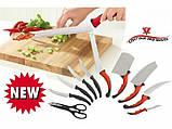 Набор самозатачивающихся кухонных ножей CONTOUR PRO Knives 10 штук + магнитная рейка, фото 3
