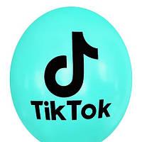 """Латексные шары Kalisan TikTok на мятном 12"""" 30 см, 5 шт"""