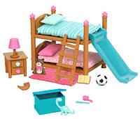 Li`l Woodzeez Игровой набор - Двухъярусная кровать для детской комнаты