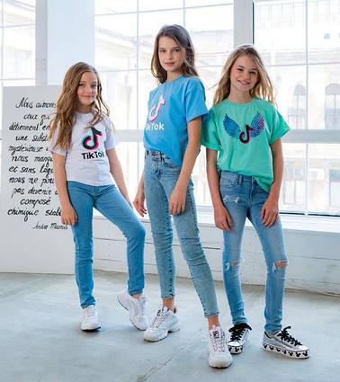 """Детская летняя футболка 0002 """"Tik Tok"""" в расцветках"""
