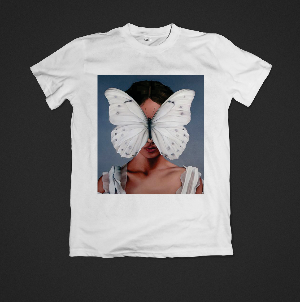 Футболка YOUstyle Butterfly 0370 S White