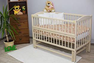 Кроватка с откидной боковиной для новорожденного Антошка Слоновая кость