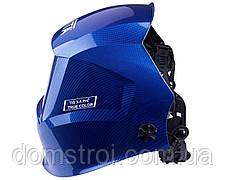 Сварочная маска VITA TIG 3-A Pro TrueColor (цвет металлические соты синие), фото 2