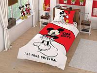 Постельное бельё детское (подростковое) Комплект постельного белья Tac Disney Mickey Cek подростковое (код
