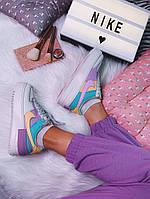 Кроссовки женские Nike Air force 1 Multicolor.Яркие женские кроссовки Найк., фото 1