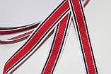 Тесьма Репс 15мм 50м белый + синий + красный, фото 2