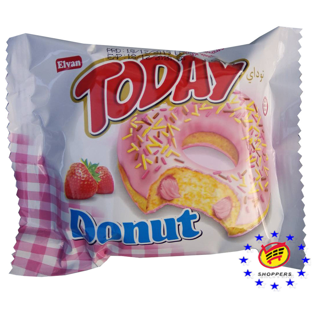 Пончик Elvan Today donut клубника 50г