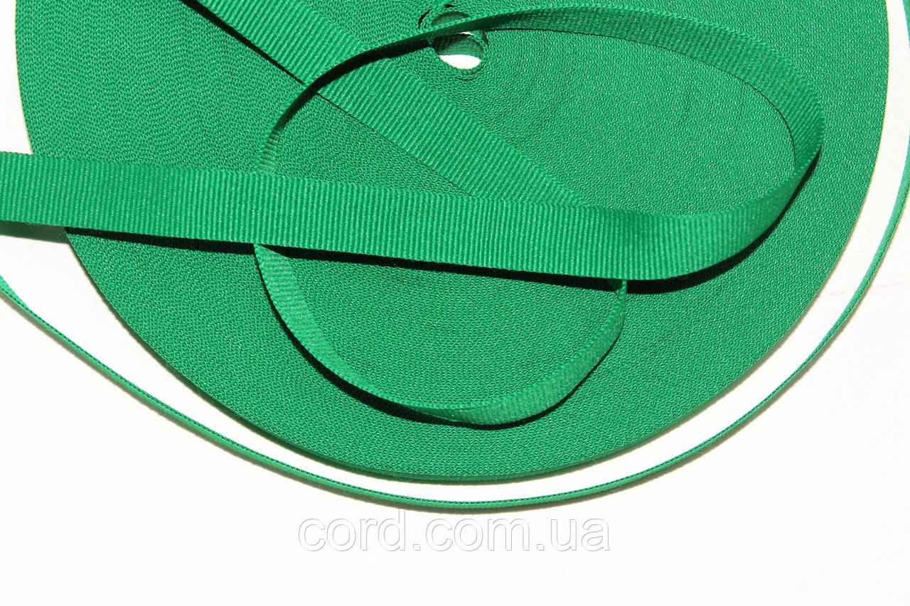 Тесьма Репс 15мм 50м  зеленый