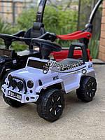 Машинка каталка -  Машинка толокар для ребенка Белый