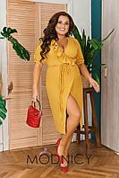 Стильное женское платье (два цвета)  БАТАЛ 05229