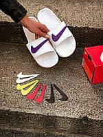 Сланцы  женские Nike. Шлёпанцы женские Nike со сменным значком . ТОП КАЧЕСТВО !!! Реплика класса люкс, фото 1