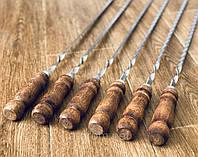 Шампура с деревянной ручкой - ручная работа (сталь 3 мм)