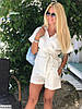 Женский льняной костюм с шортами размеры SM, ML, фото 5