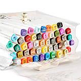 Набір двосторонніх маркерів Touch Smooth для малювання і скетчинга на спиртовій основі 40 штук, фото 8