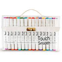 Набор двусторонних маркеров Touch Smooth для рисования и  скетчинга на спиртовой основе  80 штук