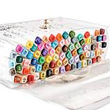 Набор двусторонних маркеров Touch Smooth для рисования и  скетчинга на спиртовой основе  80 штук, фото 7