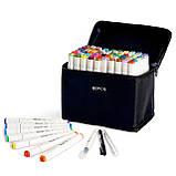 60 цветов! Набор двусторонних маркеров Touch для рисования и скетчинга на спиртовой основе  60 штук, фото 3