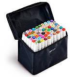 60 цветов! Набор двусторонних маркеров Touch для рисования и скетчинга на спиртовой основе  60 штук, фото 2