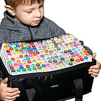 Большой набор двусторонних маркеров Touch для рисования и  скетчинга на спиртовой основе  168 штук