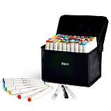 80 цветов! Набор двусторонних маркеров Touch для рисования и  скетчинга на спиртовой основе  80 штук, фото 3