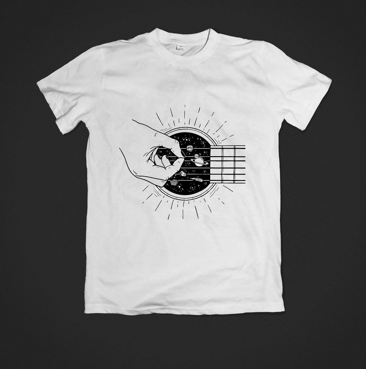 Футболка YOUstyle Guitar 0332 XS White