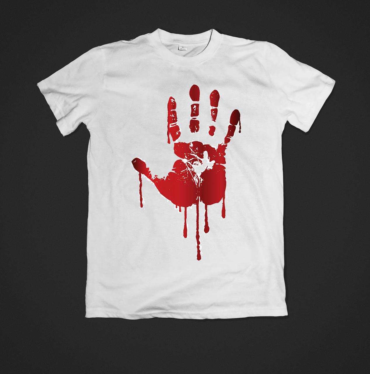 Футболка YOUstyle Hand 0333 XXL White