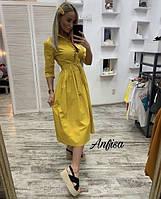 Женское Плаття Сарафан на пуговицах красивое летнее прогулочные повседневное яркие цвета на пляж модное см мл