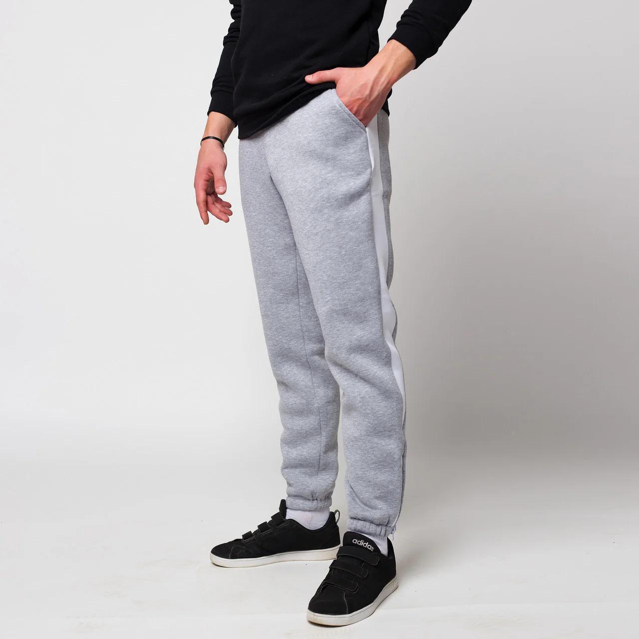 Спортивные штаны ТУР Rocky серые с белым (только L)