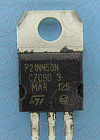 MOSFET N-канал 500V 18А STM STP21NM50N TO220
