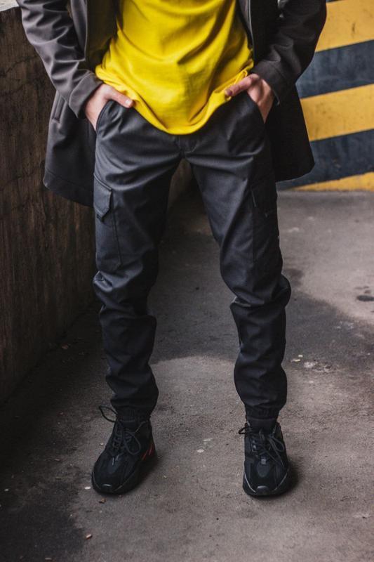Теплые брюки карго Custom Wear Premium серые(только XL)