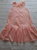 Персиковое платье воздушное 48р, фото 1