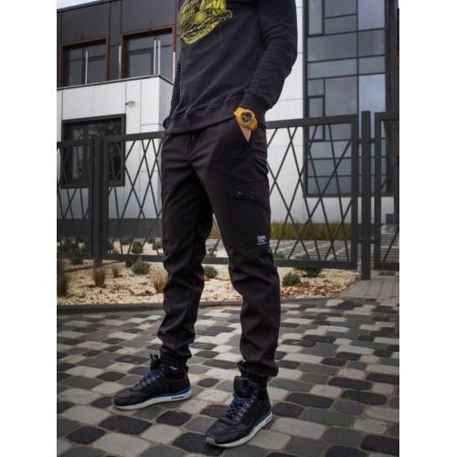 Теплые брюки карго Custom Wear Force черные(только S)