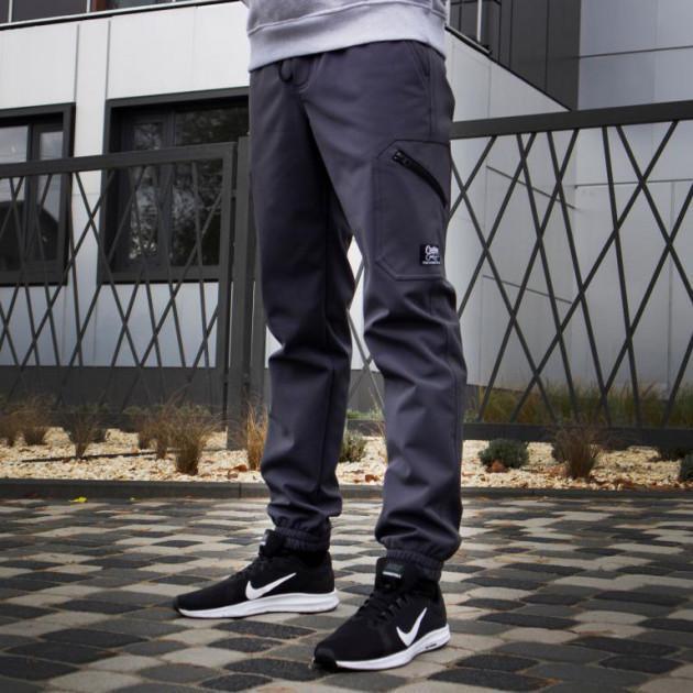 Теплые брюки карго Custom Wear Force серые(только S)
