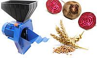 Зернодробилка-кормоизмельчитель Эликор -1 исполнение 1 зерно, корнеплоды