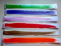 Канекалоны. Цветные - однотонные. Набор 6 шт. Длина 50 см, ширина 3.5 см.